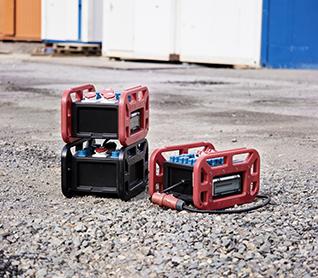 Mobil, stabil, griffig: Mit unserem mobilen Verteiler EverBOX® Grip können Sie Strom überall flexibel verteilen.