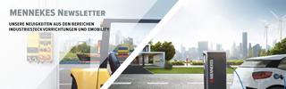 MENNEKESNewsletter mit Neuigkeiten aus den Bereichen Industriesteckvorrichtungen und E-Mobilität
